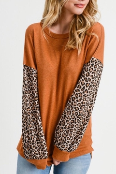 First Love Puff-Sleeve Leopard Top - Alternate List Image