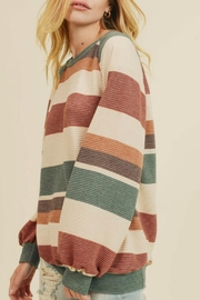 First Love Raegan Striped Sweater - Side cropped