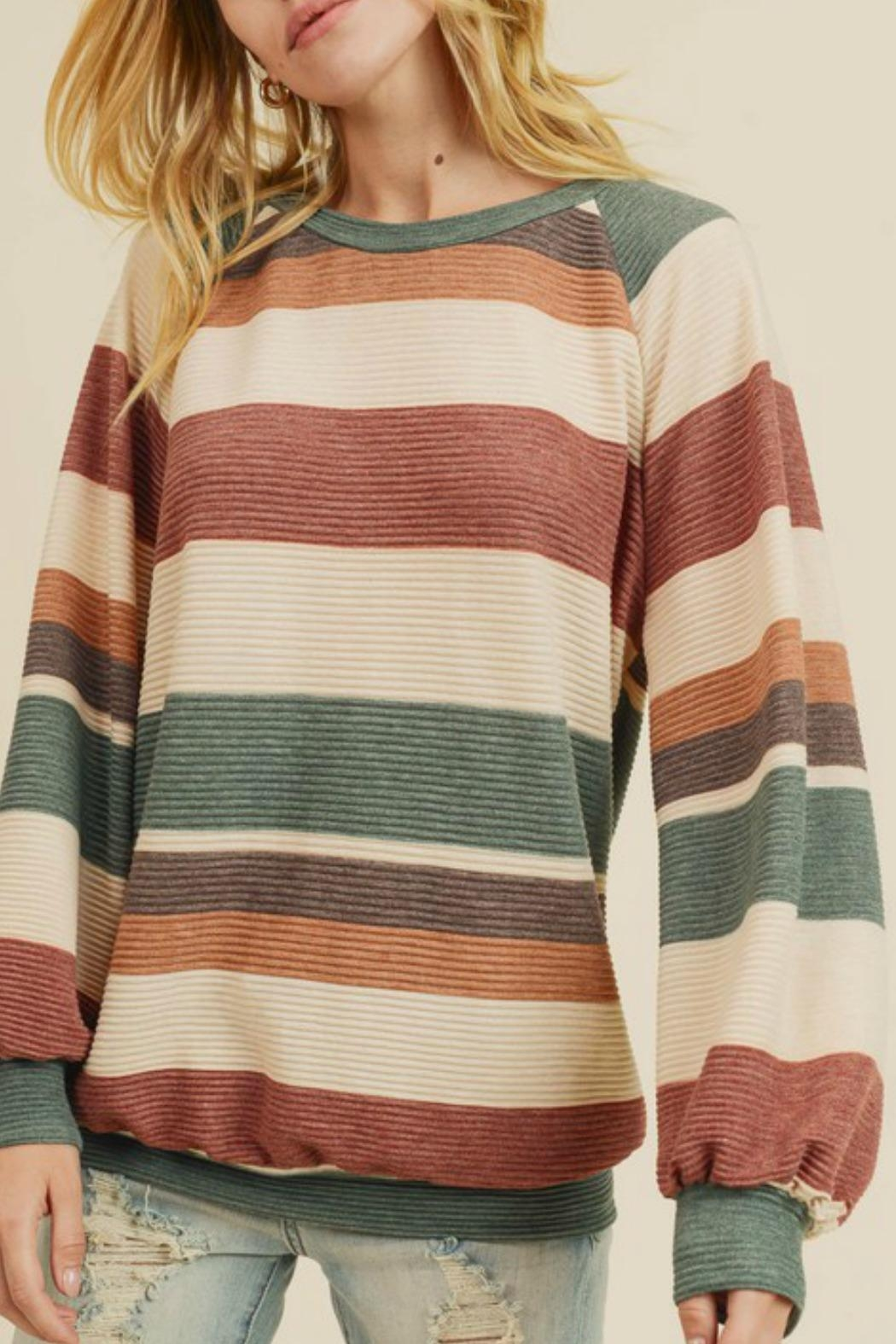 First Love Raegan Striped Sweater - Main Image