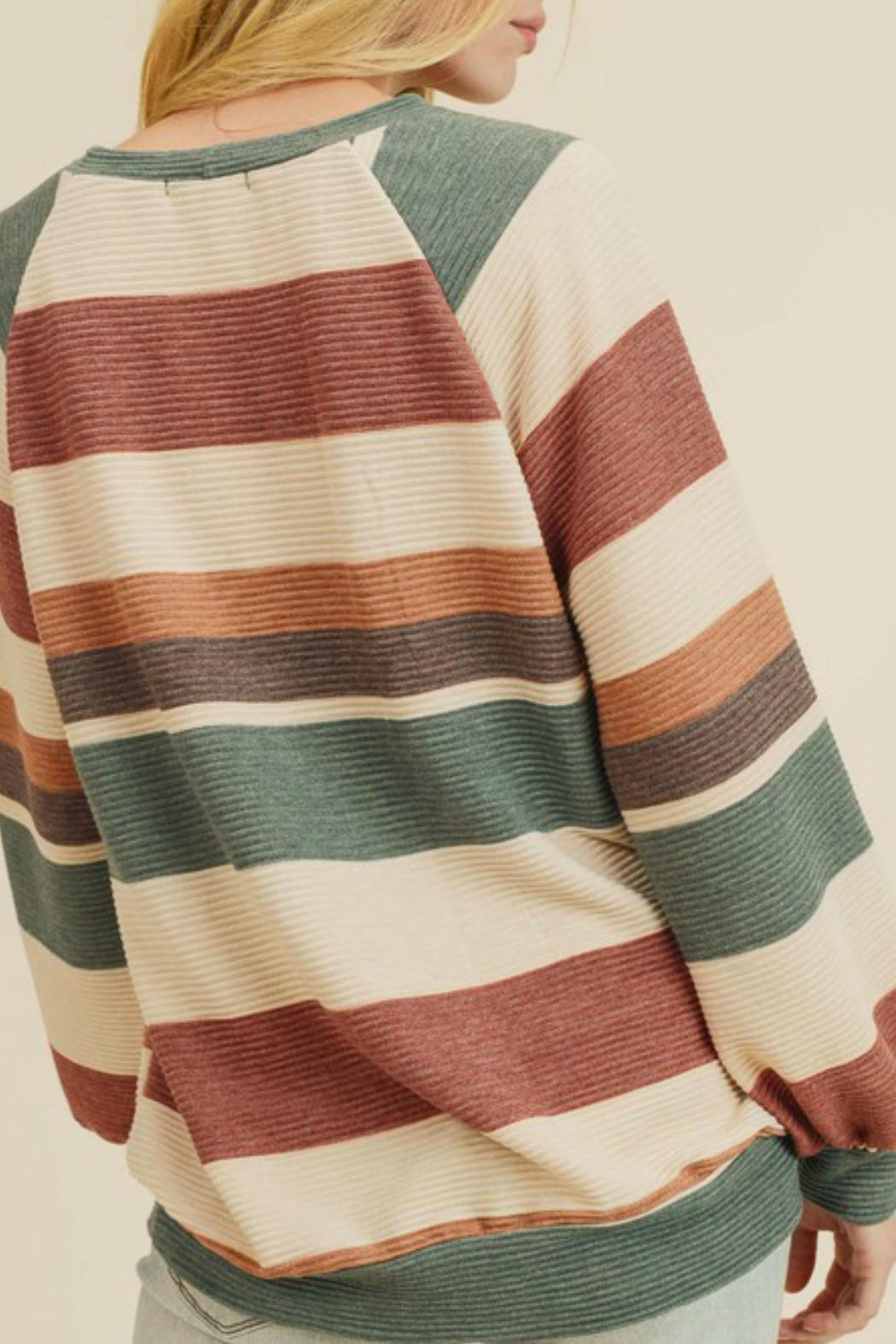 First Love Raegan Striped Sweater - Front Full Image