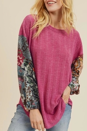 First Love Rib Knit Top - Front full body