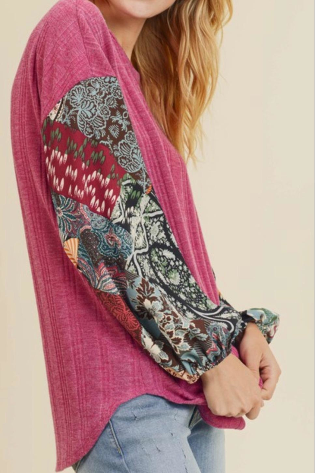 First Love Rib Knit Top - Side Cropped Image