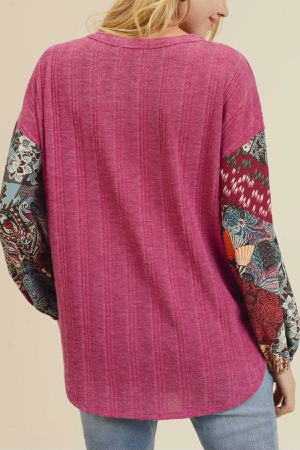 First Love Rib Knit Top - Back Cropped Image