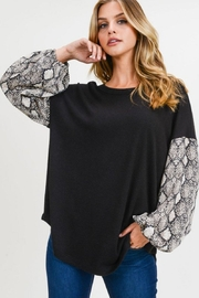First Love Snake Contrast Top - Front cropped
