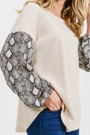 First Love Snake Contrast Top - Other