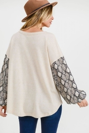 First Love Snake Contrast Top - Side cropped