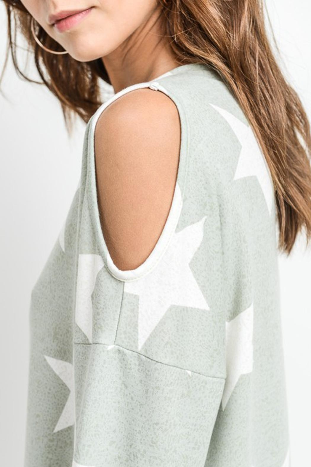 First Love Star Print Top - Front Full Image