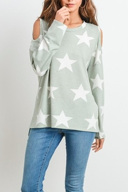 First Love Star Print Top - Front cropped