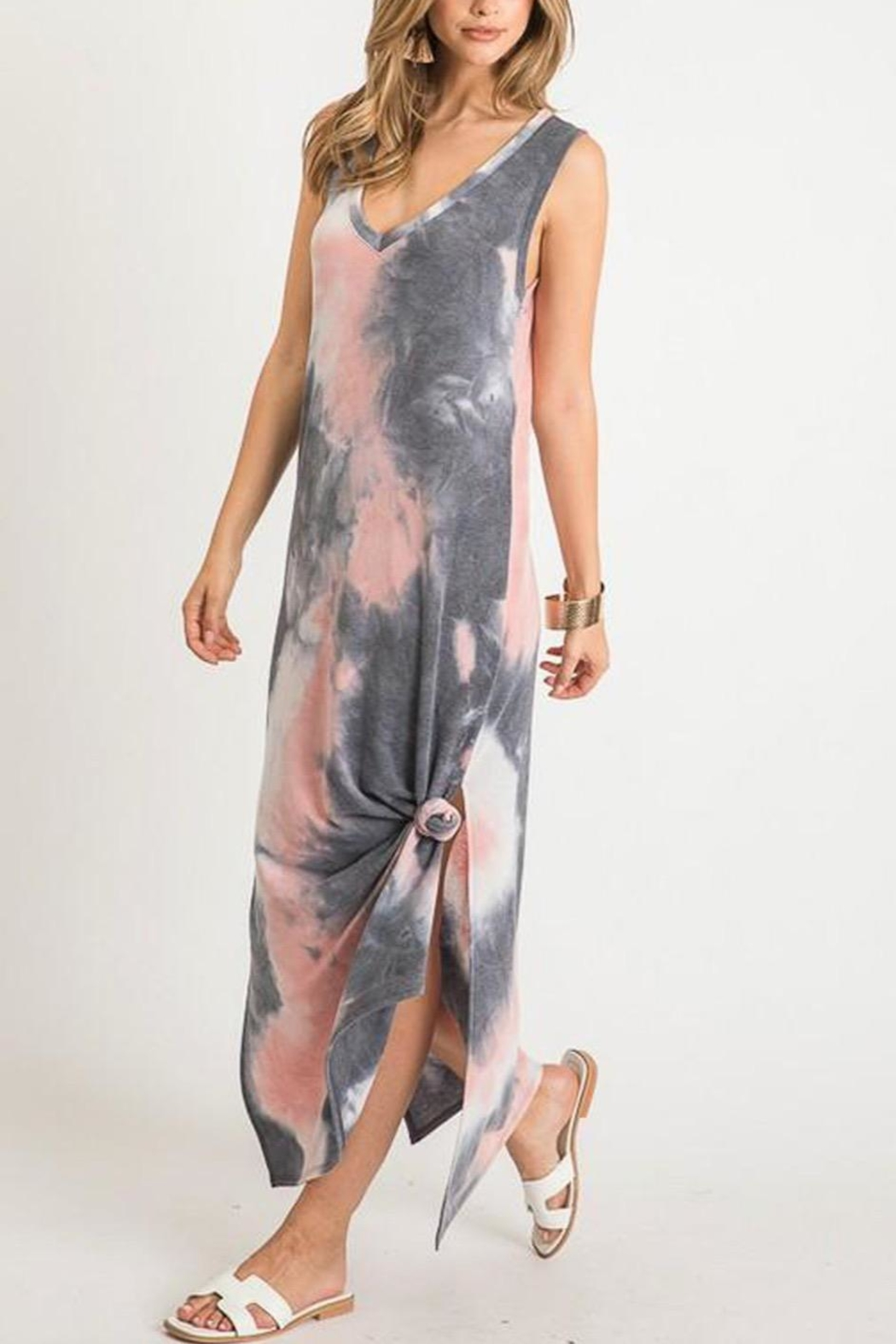 First Love Tie-Dye V-Neck Maxi - Front Full Image