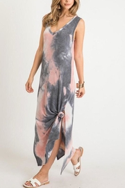 First Love Tie-Dye V-Neck Maxi - Front full body