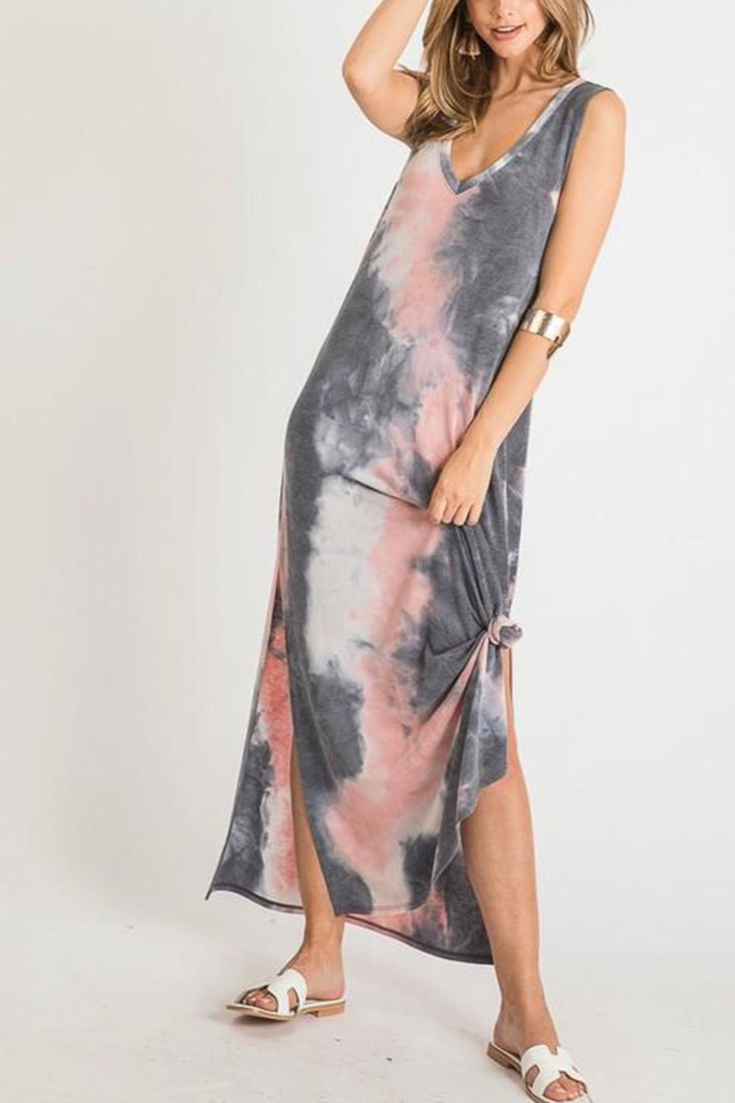 First Love Tie-Dye V-Neck Maxi - Main Image
