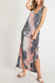 First Love Tie-Dye V-Neck Maxi - Front cropped