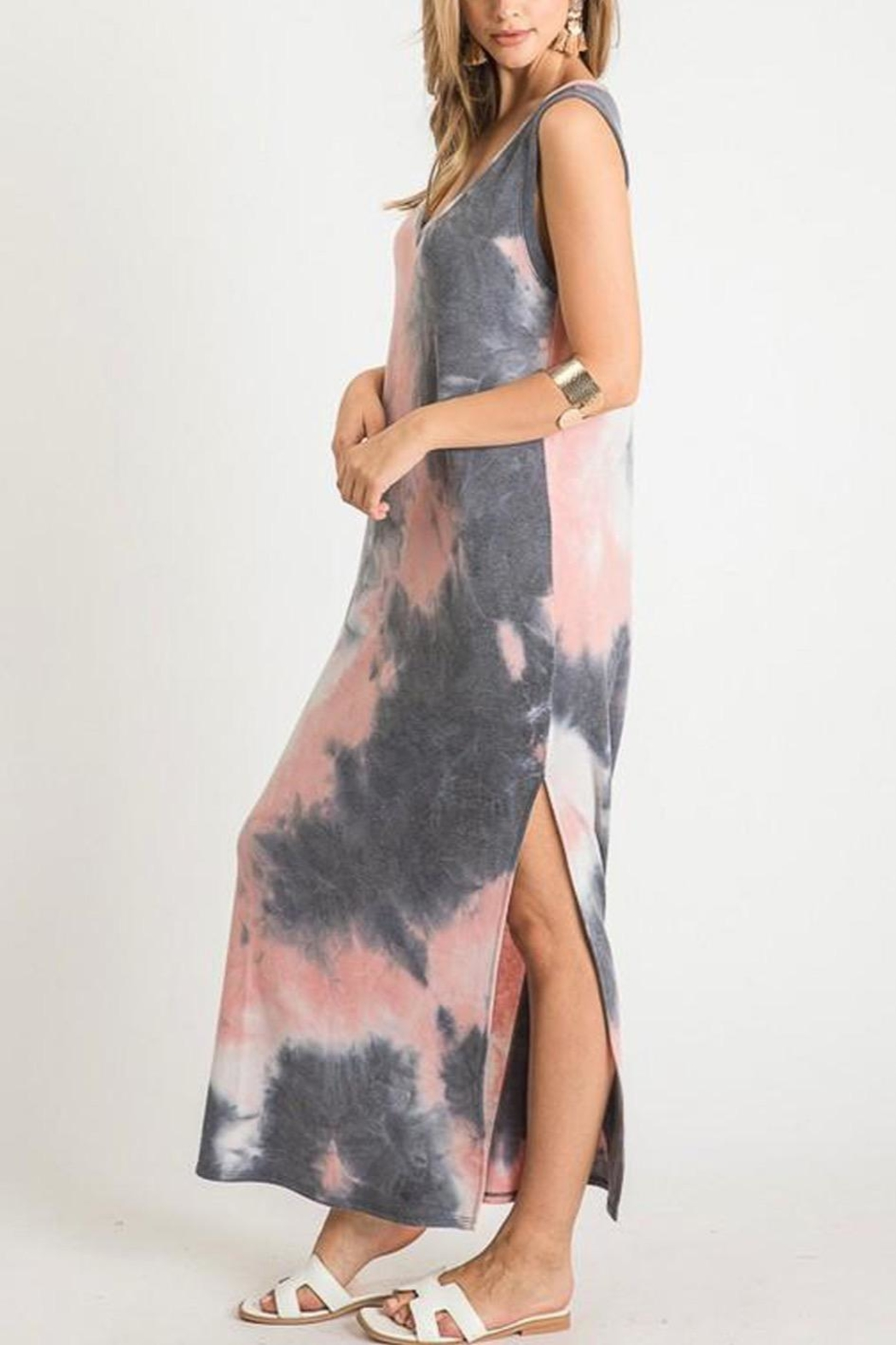 First Love Tie-Dye V-Neck Maxi - Back Cropped Image