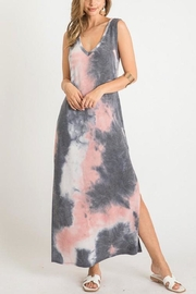 First Love Tie-Dye V-Neck Maxi - Side cropped