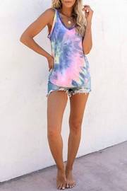 First Love Viola Tie Dye Tank - Front cropped