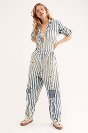 Magnolia Pearl Firth Striped Jumpsuit- Big Hickory - Product Mini Image