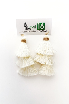 My Girl in LA Fish Hook Thread Tassel Earrings - Alternate List Image