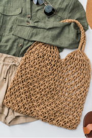 Trend:notes Fish Net Boho Bag - Front cropped