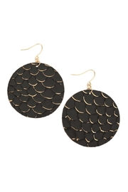 Riah Fashion Fish-Scale Leather-Drop-Earrings - Product Mini Image