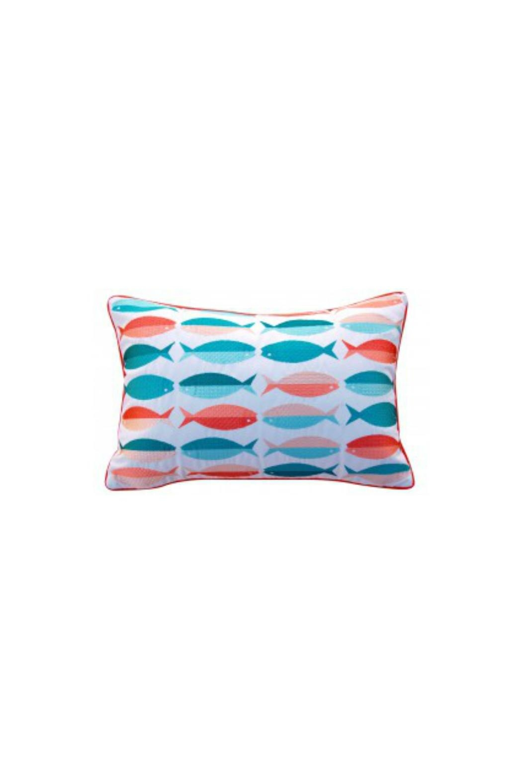 Rightside Design Fish Sunbrella Pillow - Main Image