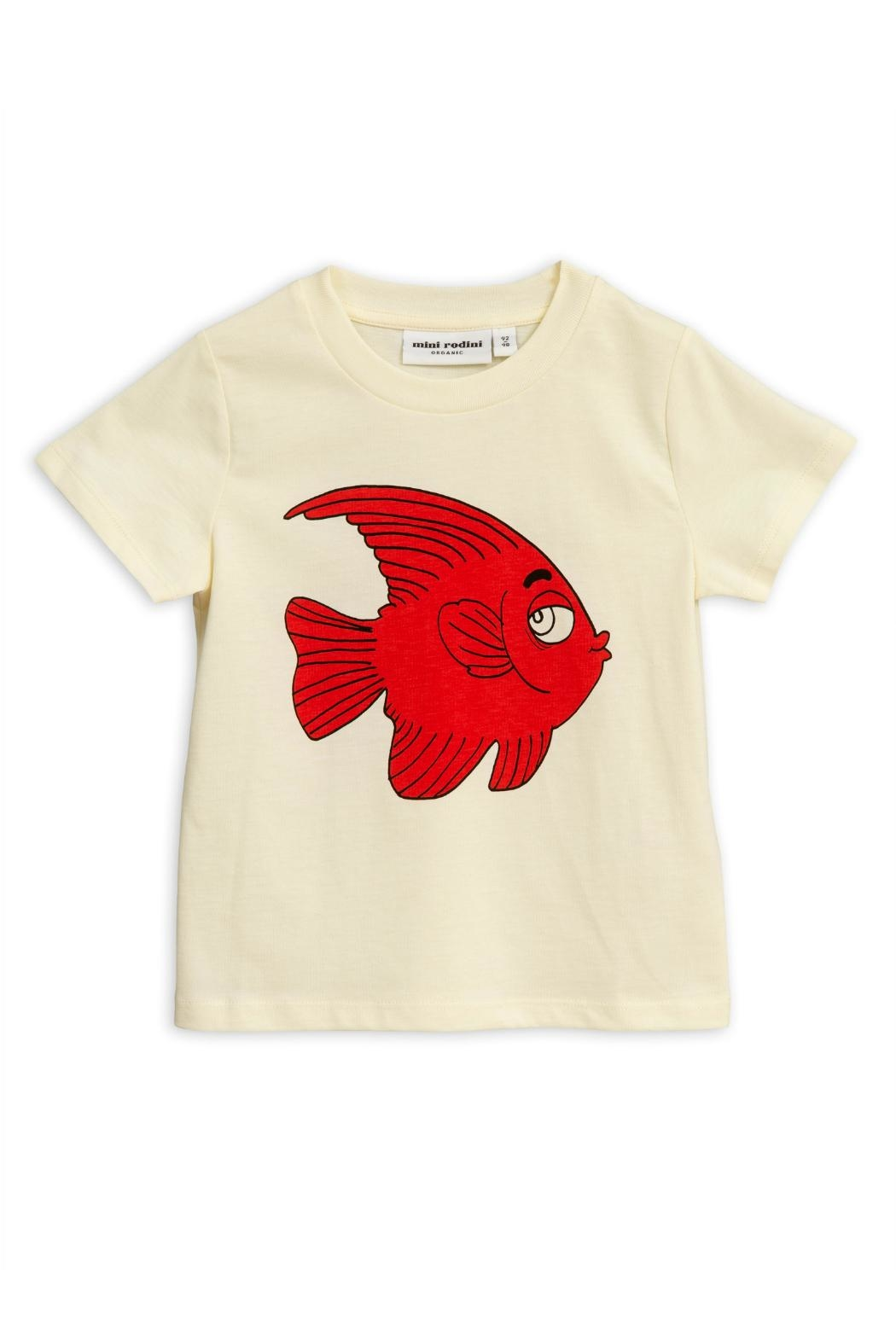 Mini Rodini Fish T-Shirt - Front Full Image