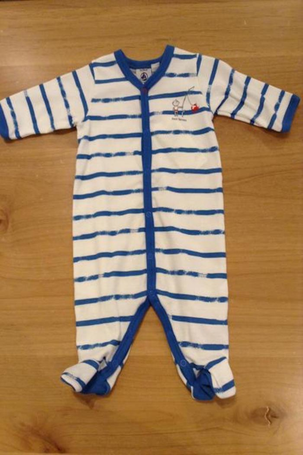 Petit Bateau Fisher Onesie - Front Cropped Image
