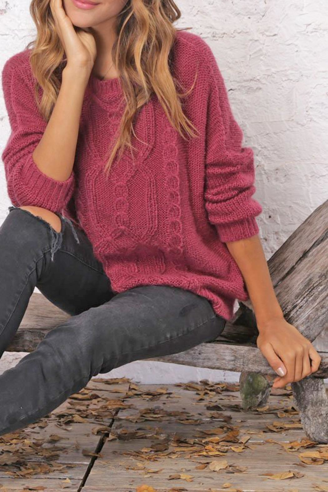 Wooden Ships Fisherman Cable Sweater - Front Full Image