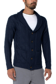 Liverpool  Fisherman Cardigan - Front cropped