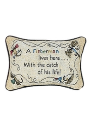 MWW Fisherman's Advice Pillow - Product Mini Image