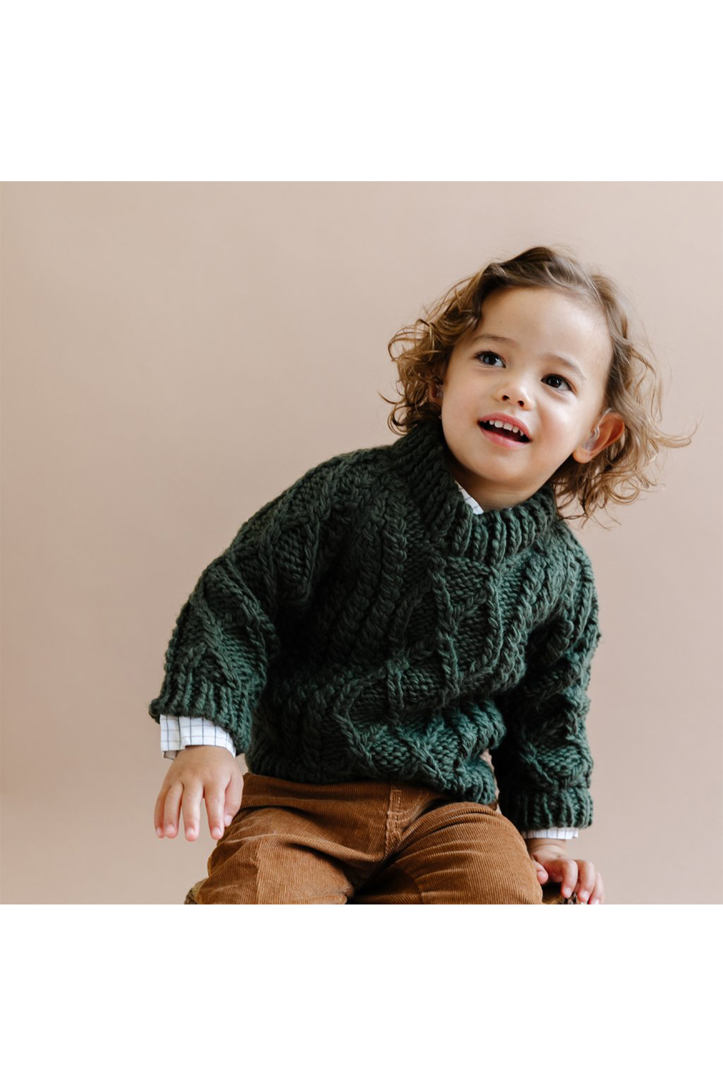 The Blueberry Hill Fisherman Sweater - Front Full Image