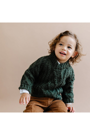 The Blueberry Hill Fisherman Sweater - Front full body