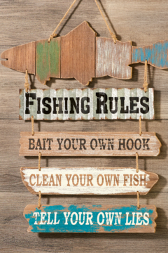 Giftcraft Inc.  Fishing rule sign - Alternate List Image