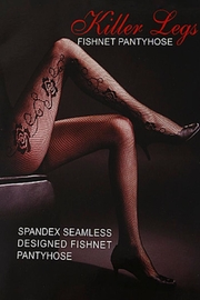 Yelete Fishnet Pantyhose - Product Mini Image