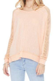 T Party Fishnet Sleeve Tunic Knit Top - Product Mini Image