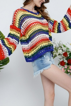 Adora Fishnet Stripe Sweater - Product List Image