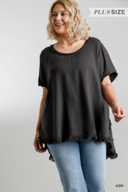 Umgee USA Fishtail Tunic Top - Front full body