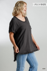 Umgee USA Fishtail Tunic Top - Side cropped