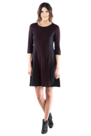 Neesha  Fit and Flare Color Block Sweater Dress - Product Mini Image