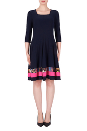 Joseph Ribkoff  Fit and Flare Dress, Midnight - Product Mini Image