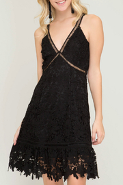 She + Sky Fit and flare lace crochet dress - Product Mini Image
