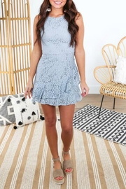 She + Sky Fit-And-Flare Lace Dress - Front cropped
