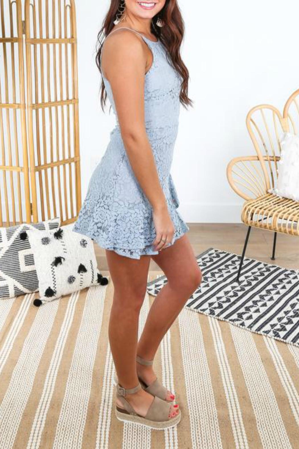 She + Sky Fit-And-Flare Lace Dress - Front Full Image