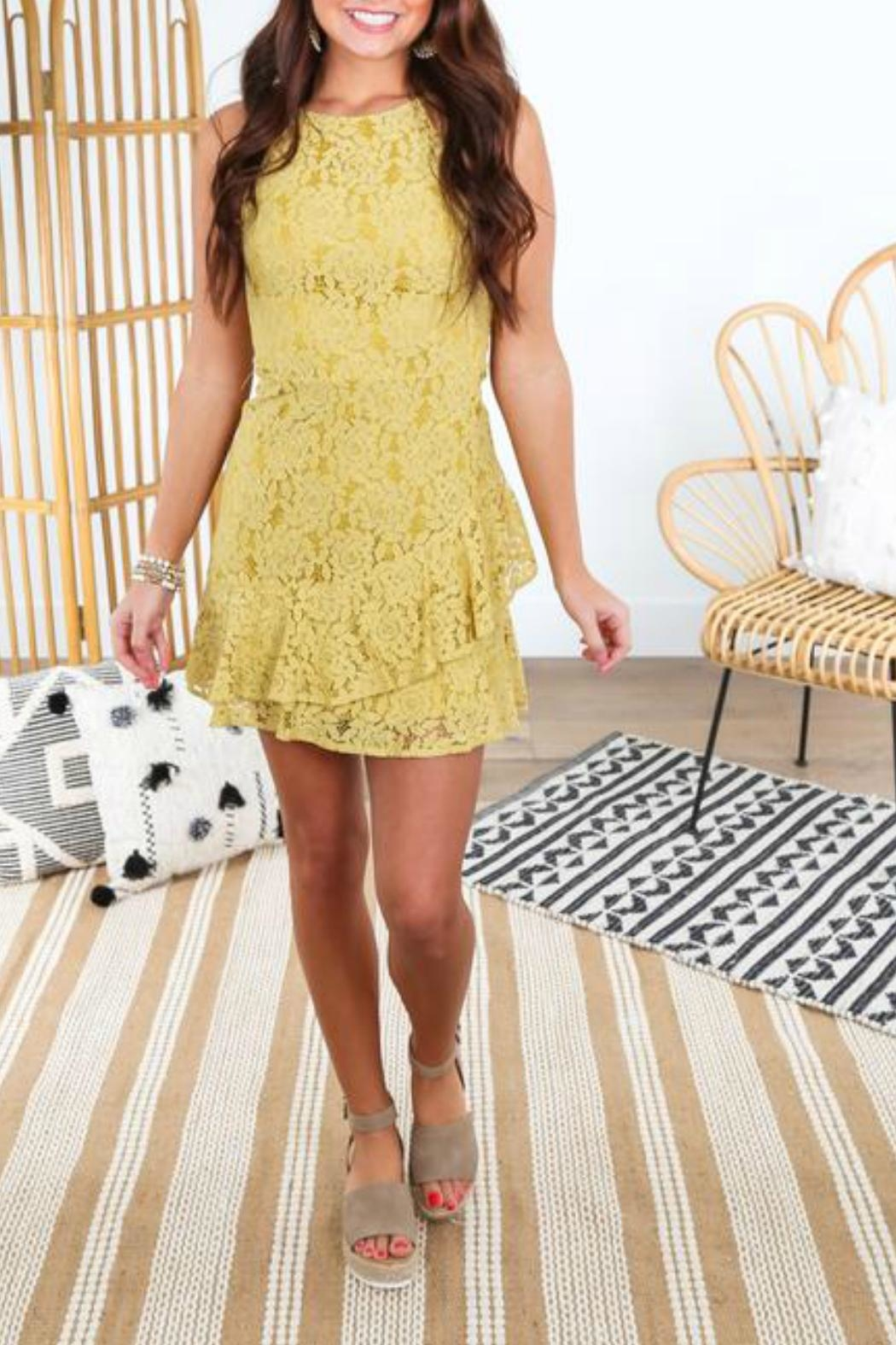 She + Sky Fit-And-Flare Lace Dress - Main Image