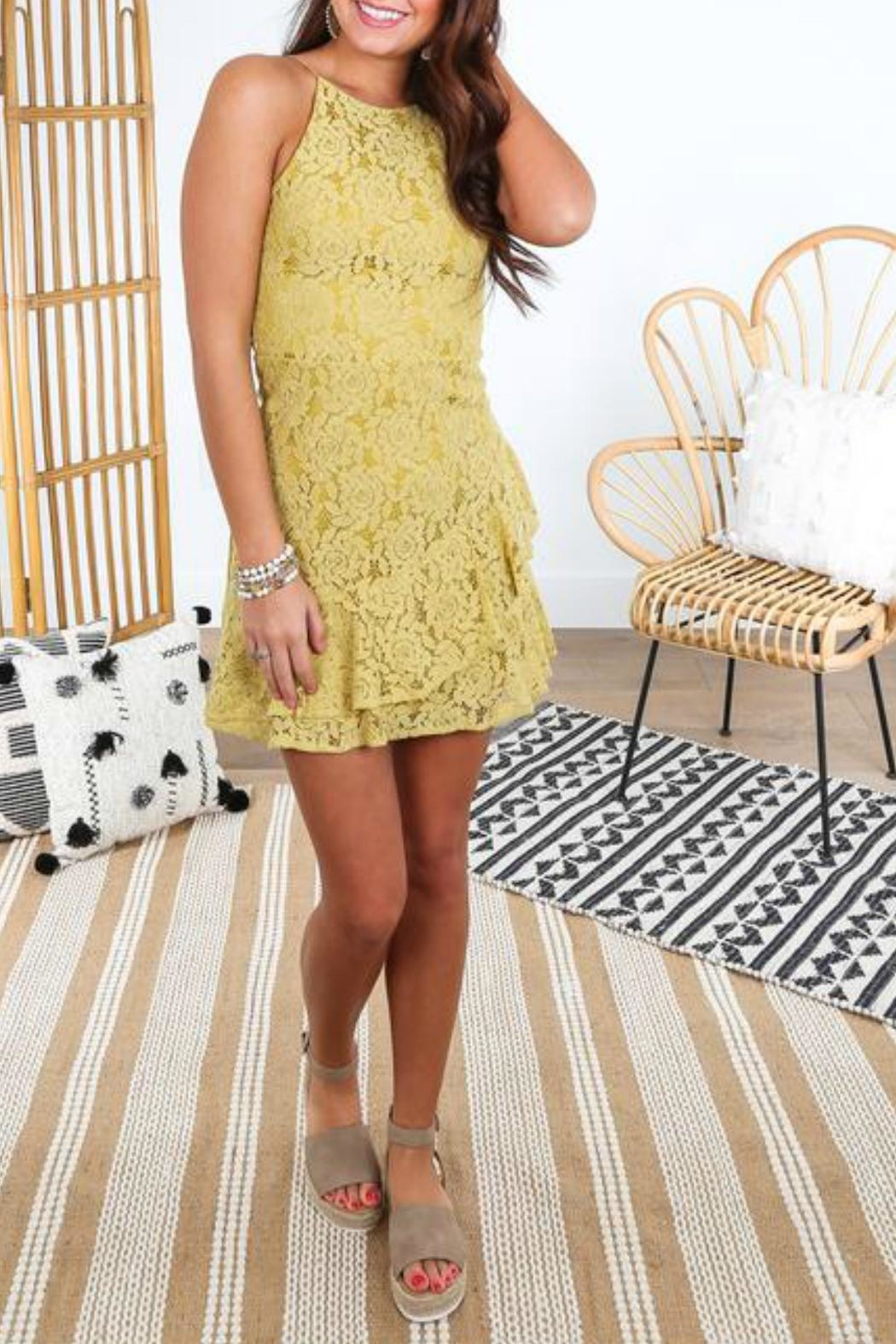 She + Sky Fit-And-Flare Lace Dress - Side Cropped Image