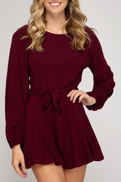 She and Sky Fit and Flare Romper - Product List Image