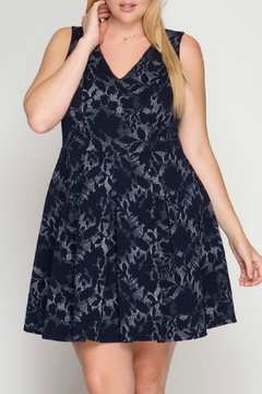 Shoptiques Product: Fit and Flare Sleeveless Dress