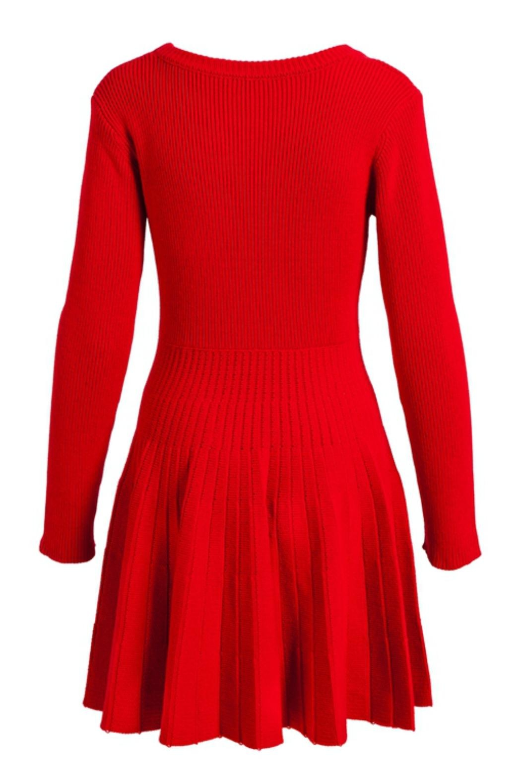 Evergreen Enterprises Fit-And-Flare Sweater Dress - Front Full Image