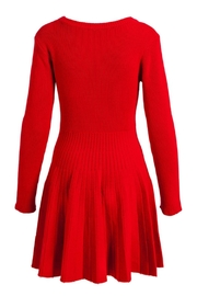 Evergreen Enterprises Fit-And-Flare Sweater Dress - Front full body