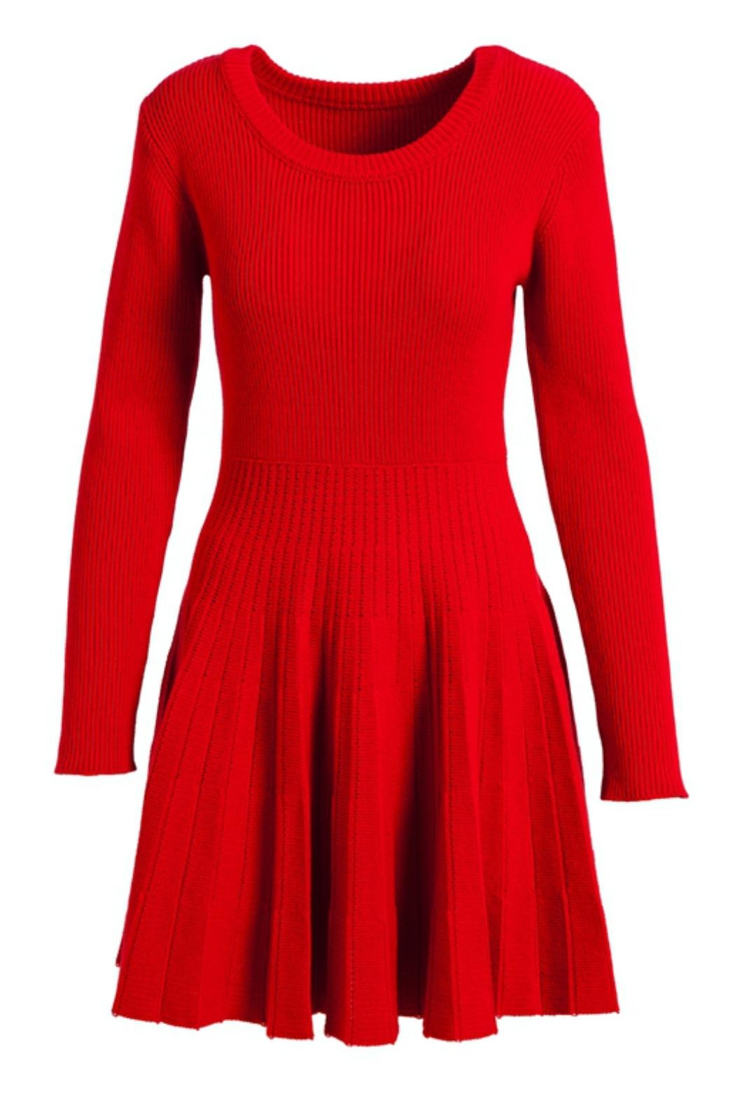 Evergreen Enterprises Fit-And-Flare Sweater Dress - Main Image