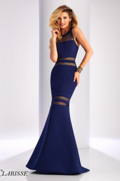 CLARISSE Fit and flare with illusion cut out long dress - Product List Image